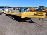 Tri Axle Equipment Trailer