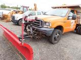 2004 Ford F-550 Mason Dump w/ Western Plow