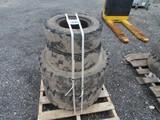 Set of 4 Forklift Solid Tires 250-15