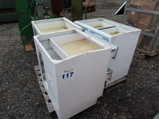 Lot of 3 Hardware Cabinets