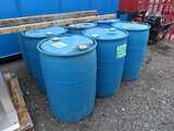 Lot of 9 Plastic 55 Gallon Drums