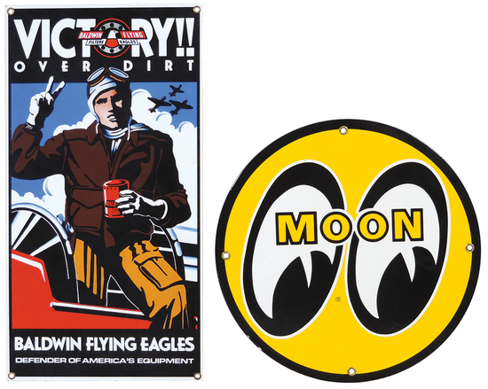 Automotive Signs (2), Baldwin Flying Eagles Oil Filter