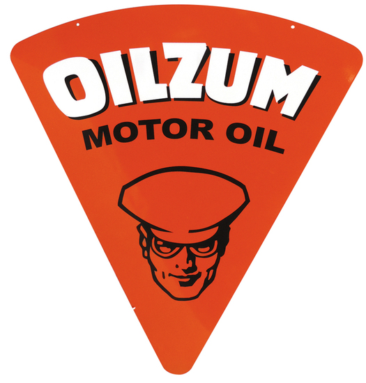 Petroliana Sign, Oilzum Motor Oil, heavy enamel paint
