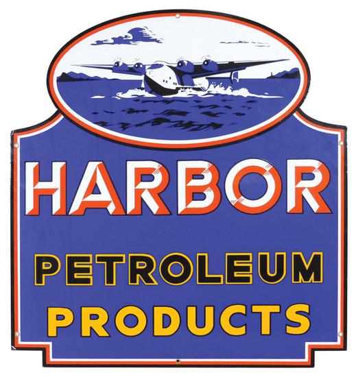 Petroliana Sign, Harbor Petroleum Products, enamel on
