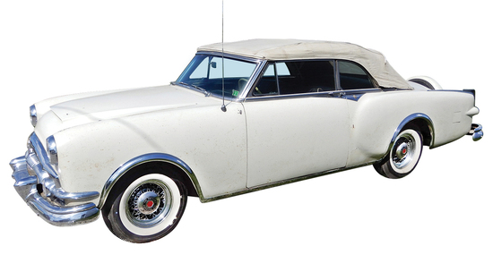 1953 Packard Caribbean Convertible. Purchased in 1964