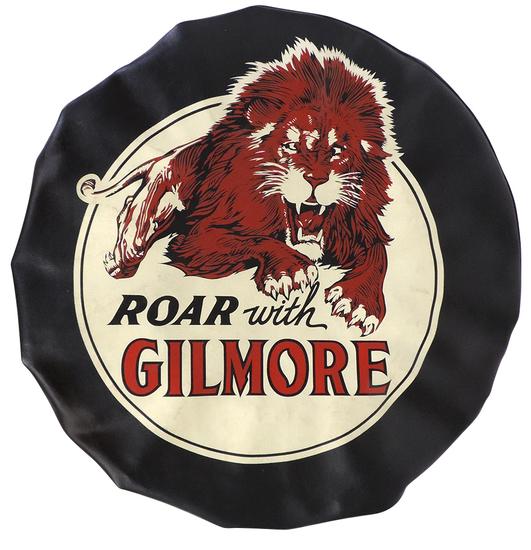 Automotive Tire Cover, Roar with Gilmore, black vinyl