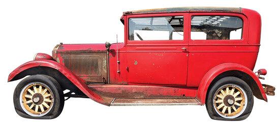 "Willys Knight 1928 Model 56 Touring Sedan. A true ""Barn Find"""