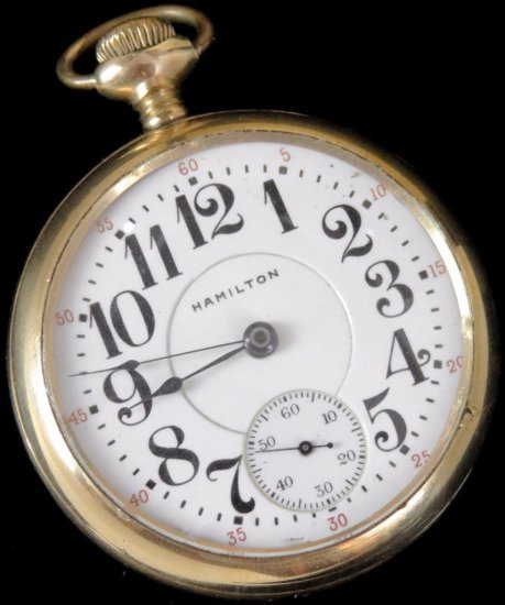 Hamilton Motor Barrel Pocket Watch 944 - 19 Jewels movement # 552445.