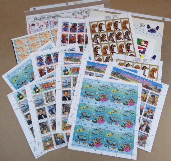 Over $1000.00 Face Value of Unused Collectible Stamps! Most never opened from Post Office