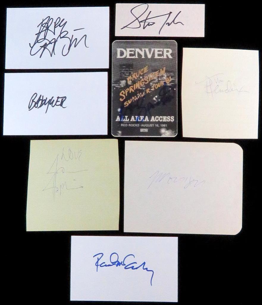 """""""Rock n' Roll Legends"""" (8) piece autograph collection includes Paul McCartney, Jim Morrison, Janis J"""