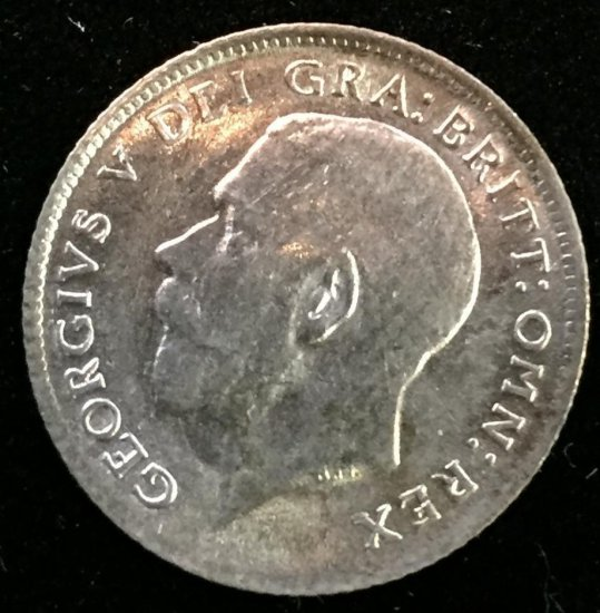 1918 Great Britain 6 Pence - George V.