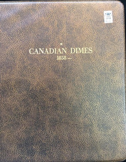 Old Harco Canadian Dime Book includes approx (93) dimes - 1900 - 2005.
