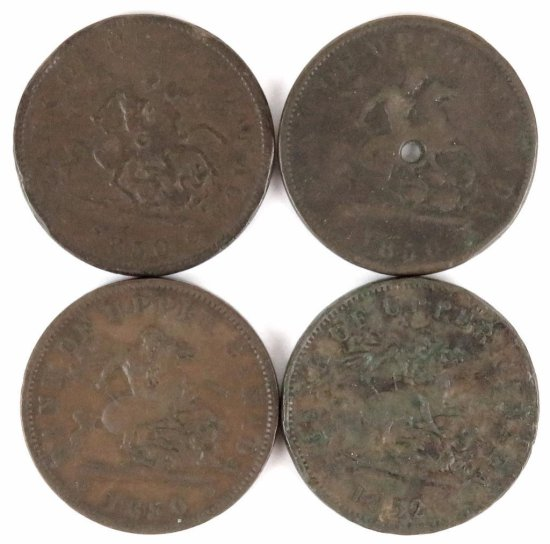 Lot of (11) Canada - Upper CANADA Penny includes (3) 1850, 1852, (2) 1854 & (5) 1857.