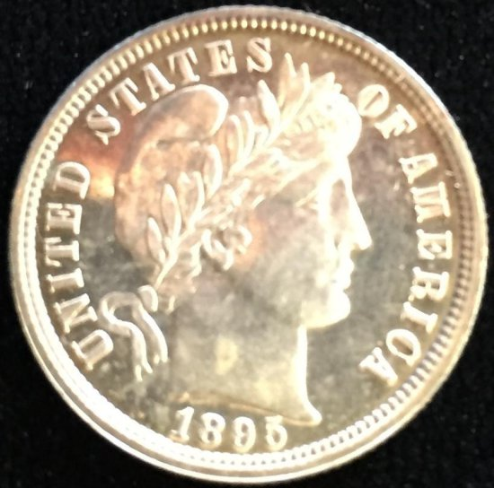 Proof! 1895 Barber Dime