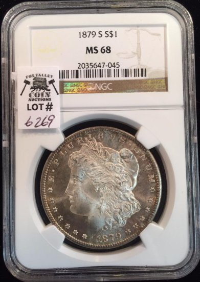1879 S Morgan Dollar NGC Certified MS 68
