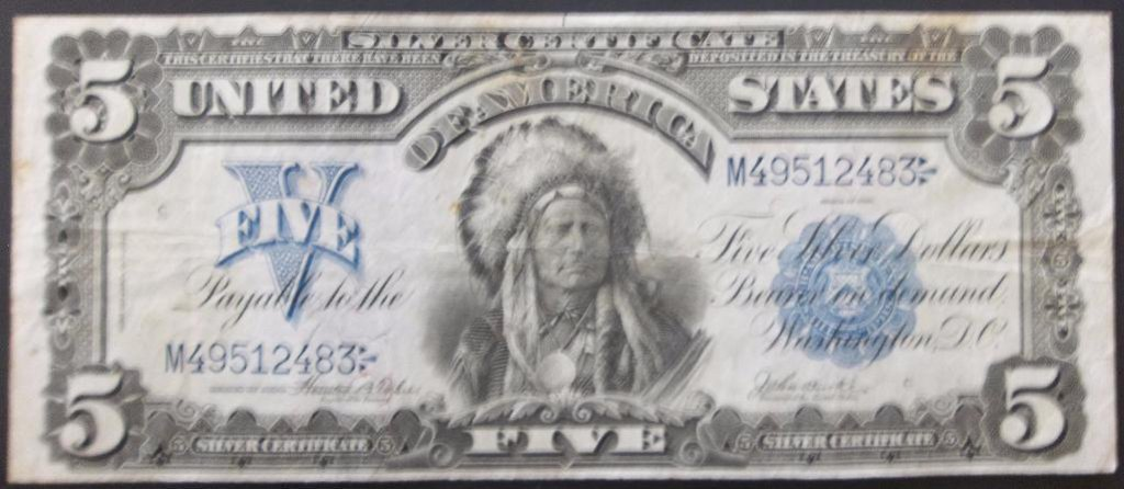 1899 $5 SILVER CERTIFICATE CHIEF FR 278
