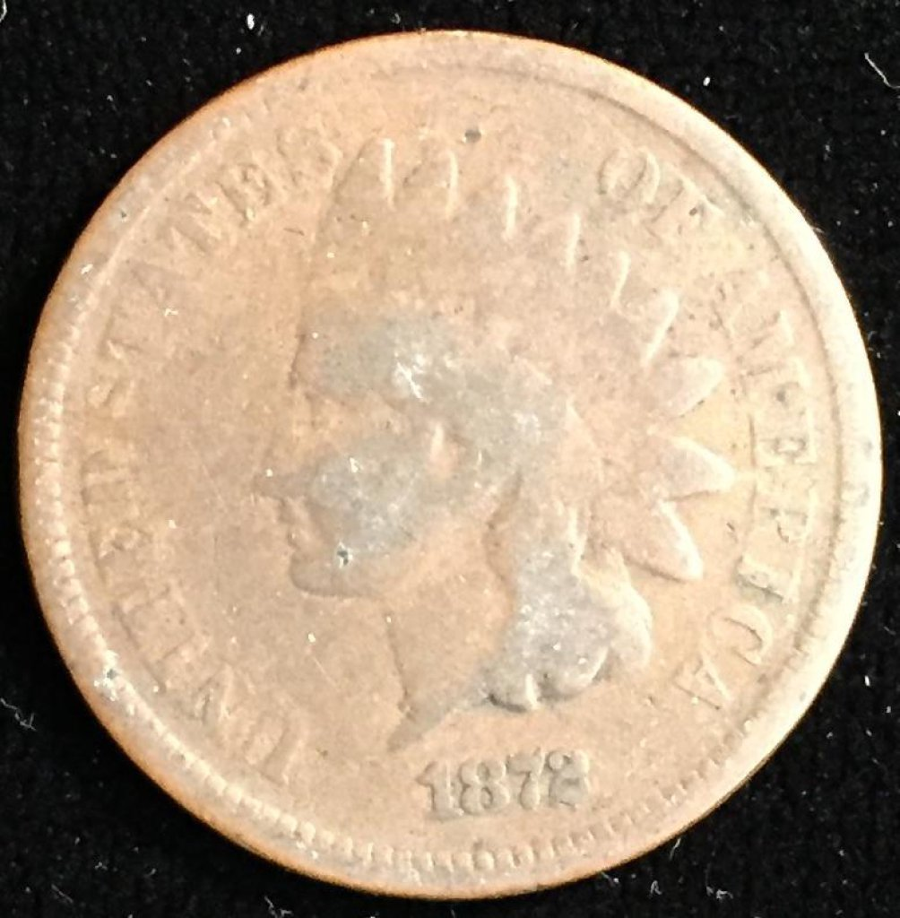1872 Indian Head Cent.