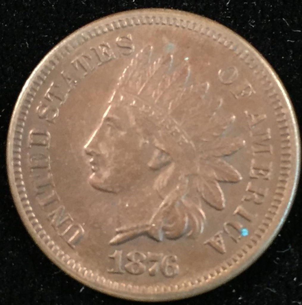 1876 Indian Head Cent.