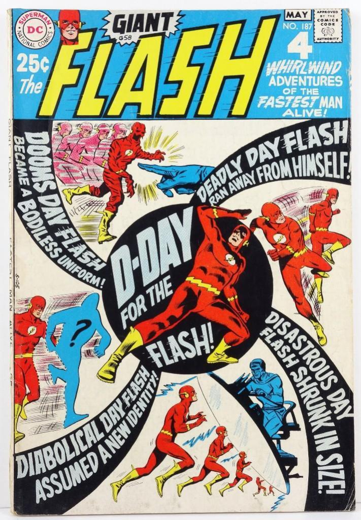 Comic: Flash #187 May 1969 D Day For The Flash!