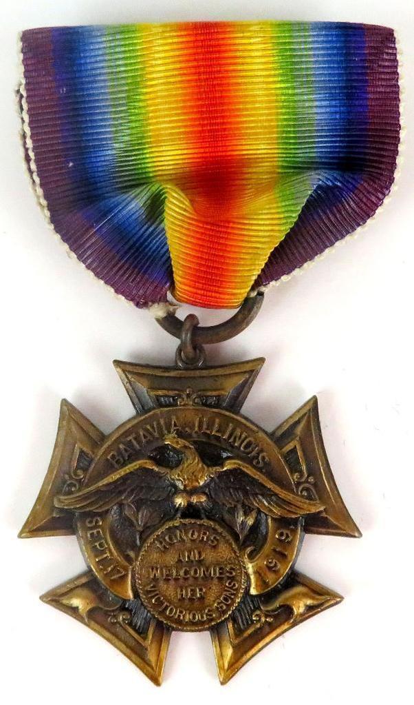 WWI Batavia, Illinois Victory / Service Medal.