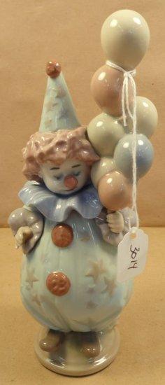 "Lladro ""Littlest Clown with Balloons"" #5811"