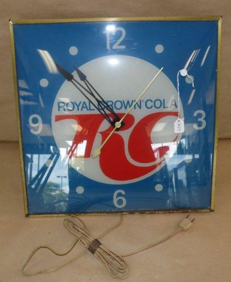 Vintage original 1960's Royal Crown Cola / RC Cola light-up advertising Pam Wall Clock.