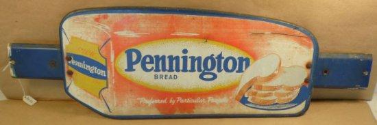 Vintage Pennington Bread advertising door push.