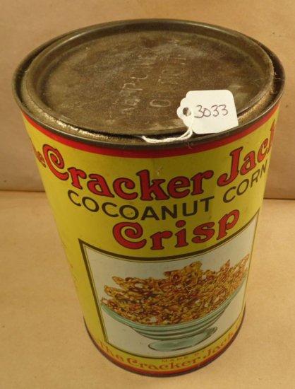 Original Cracker Jack - Cocoanut Corn Crisp Tin.