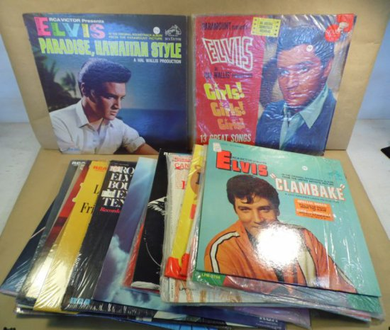 Lot of twenty different original ELVIS albums.  Please view images from the link on our website www.