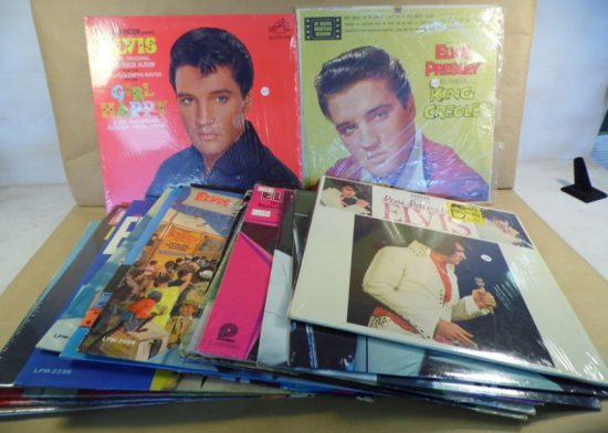 Lot of twenty-two different original Elvis albums.  Please view images from the link on our website