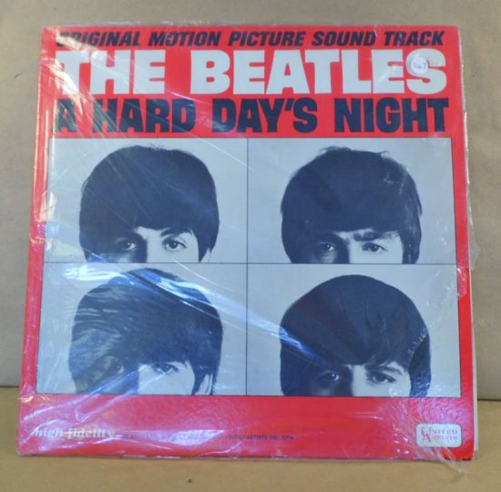 """United Artists Records Album UAL-3366 - 1st Edition Cover & Album of Beatles """"A Hard Day's Night""""  w"""