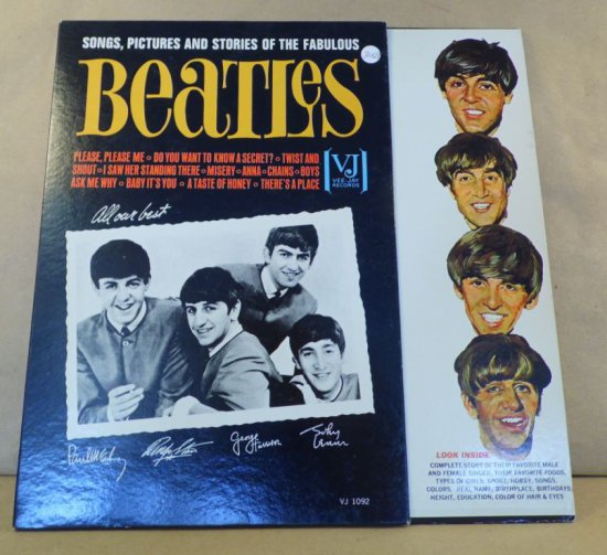 Vee-Jay Records Album VJ-1092 - Beatles Songs, Pictures and Stories of the Fabulous.
