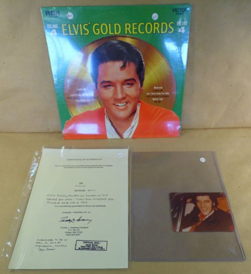 Rare! RCA Victor Stereo Album LSP-3921 - Elvis Gold Records Volume 4.  Still Sealed!  With fountain