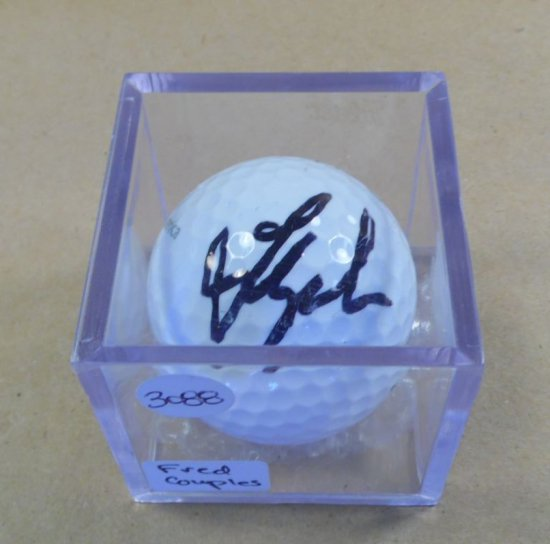 Fred Couples signed mint condition Titleist golf ball.  With authenticity.