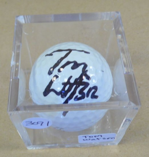 Tom Watson signed mint condition Ultra golf ball.  With authenticity.