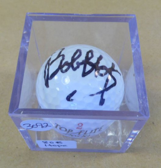 Bob Hope signed mint condition Top Flite golf ball.  With authenticity.