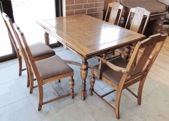 Dining Table U0026 (5) Chairs Set By Chittenden U0026 Eastman Company Burlington,  Iowa