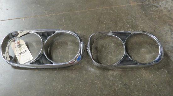 1965 GTO Pair of Original Headlight Bezels