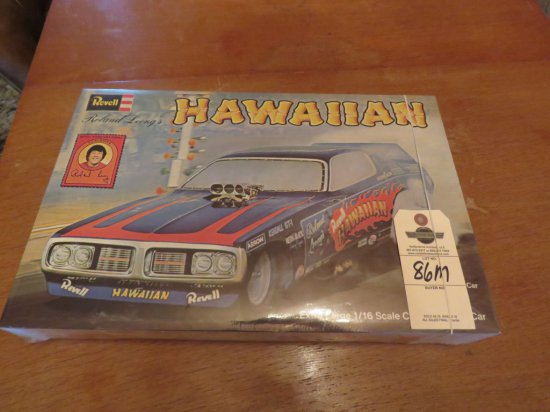 1996 Revell NIB 1/16 Scale Model - Roland Leong's The Hawaiian Drag Car
