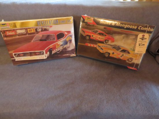 Revell Limited Edition NIB Snake and Mongoose Funny Car Combo pack Model  ALONG with Revell NIB Reve