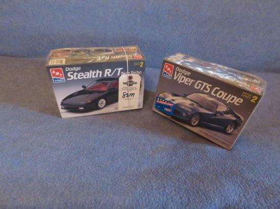 AMT/ERTL Dodge Stealth and Viper GTS Coupe NIB Models