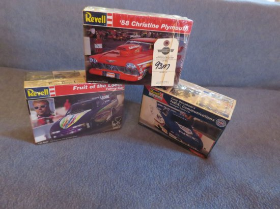 3 Dragster Models NIB