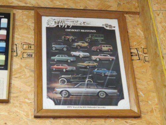 1911-1979 Framed Car Poster