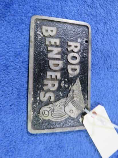 Vintage Pot Metal Road Benders Vehicle Club Plate