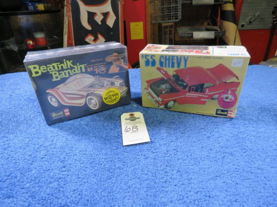 Revell 1955 Chevrolet Model and Revell Ed Roth's Beatnik Bandit Model