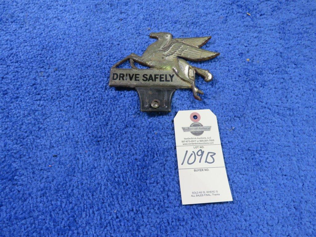 Mobil Oil License Plate Topper