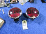 Pair of Vintage Stop Taillights