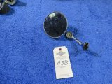 Vintage Aftermarket Mirror with Thermometer