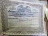 Bear Oil Stock Certificate