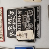 Vintage Vehicle Club Plates-Pot Metal of Drifters, RPM's, Coachman